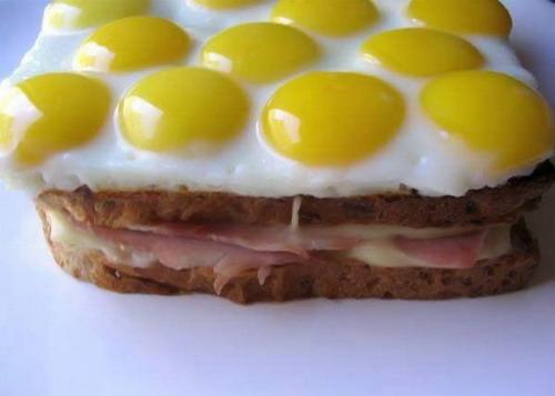 яичница-правильный бутерброд